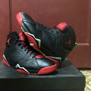 air jordan 7 marvin the martian black red green.